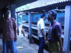 Prehad Handoko ( memakai batik merah ) ketika mengikuti pelatihan ternak di klaten
